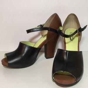 Seyschelles Peep Toe Heels 8